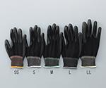 アズピュア黒色PU手袋 オーバーロックタイプ 手の平コート