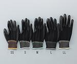 アズピュア黒色PU手袋 オーバーロック・ポリエステル製 手の平コート