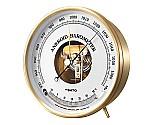 アネロイド気圧計温度計付