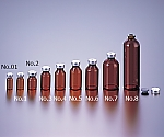 Vial Bottle No.01 2mL Brown Without Cap 100 Pieces and others
