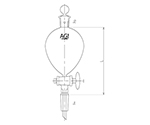 Sphere Separatory Funnel with Sliding Glass Cock 100mL and others