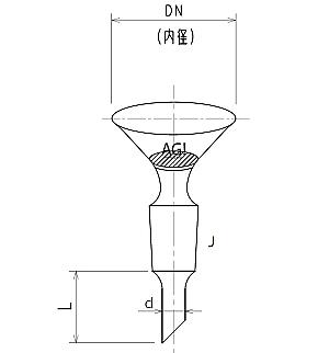 セミ・ミクロ フィルター板付ロート φ45 3772-45-1M-F
