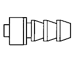 1/4In. HB To M Luer Lock Nickel/Chrome Plated 1/Pk 1PK XX3002564