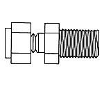 Adpt 1/4In. NPTM To 1/4In. Tube 1/Pk 1PK XX6702507
