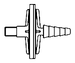 Millex-Fg 0.2μm PTFE 50mm 1/8In. Nptm-1/8In. HB 10/Pk 10PK SLFG55010