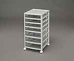 Office Chest shallow 4 3 stages OCE-S403AR Light gray 245503OCE-S403AR