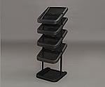 [Discontinued]Metal pole Shoe Rack MSR-5S Black 264292MSR-5S