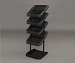 [Discontinued]Metal pole Shoe Rack MSR-5S Black 264292MSR-5S
