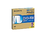 [取扱停止]データ用DVD-RW 4.7GB 1-2倍速 1枚×5(5ミリ) IJP対応 EMC-5DMW47HPS
