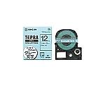 テプラPRO テープカートリッジ ミルキーブルーにグレー文字12mm幅等