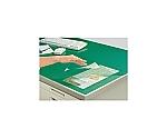 デスクマット軟質Wエコノミー 塩ビ製 緑 透明 下敷き付