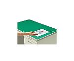 デスクマット硬質W アクリル製 グリーン 透明 下敷き付