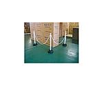 チェーンスタンド 3本組 白 チェーン付 255×255×850mm(1本あたり) 089658