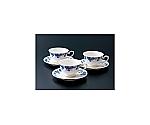 ブルーターフ高台兼用碗皿3客セット 57912-1000