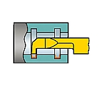 サンドビック コロターンXS 小型旋盤用インサートバー 1025 型番:CXS05G1505220R 1025