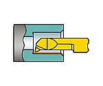 サンドビック コロターンXS 小型旋盤用インサートバー 1025 型番:CXS05T098205230L 1025
