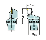 サンドビック コロマントキャプト コロカット1・2用カッティングユニット 型番:C4LF123J1327055B