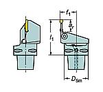 サンドビック コロマントキャプト コロカット1・2用カッティングユニット 型番:C6LF123L1645065B C6LF123L1645065B