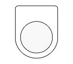 メガネ銘板(押ボタン/セレクトスイッチ)