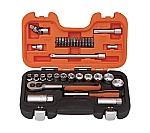 インチソケットセット 1/4 3/8 差込角6.35mm 12.7mm S330AF