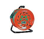 特殊機能付電工ドラム アースチェックリール アース漏電しゃ断器付 30m GNFEB34