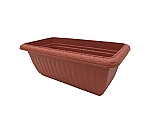 Relief planter terra-cotta Brown 700 and others