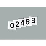 スチールケース用札 KS-C札(2)黒 228033