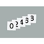 スチールケース用札 KS-D札(2)黒 228043