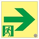 高輝度蓄光通路誘導標識 「→」 SSN961 364961