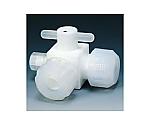 フッ素樹脂 三方バルブ異径圧入型