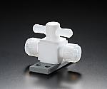 フッ素樹脂 二方バルブ圧入型ベース付等