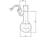 無水炭酸定量分解フラスコ 100ml 3280-100-4L