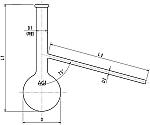 タール酸定量蒸留フラスコ 250ml 3326-250