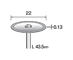 電着ダイヤモンドカッティングディスク 22mmΦ×シャンク径2.34mm MC1121 等等