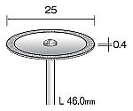 電着ダイヤモンドカッティングディスク 25mmΦ×シャンク径2.34mm等