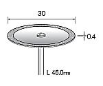 電着ダイヤモンドカッティングディスク 30mmΦ×シャンク径2.34mm等
