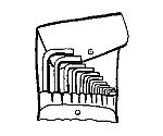 6角棒レンチセット 1/16-3/8in 10760ACV/10PC等