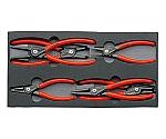 スナップリングプライヤーセット 002001V02 4本組