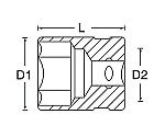 ヘクスローブソケット(E型) 3/8DR等