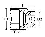ソケット(6角棒) 1/2DR