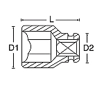 インパクトソケット 1/2D