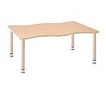 昇降脚(S脚)テーブル 波型