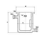 [Discontinued]Flat Bottom Full Jacket Type Reaction Vessel with Stirring Baffle and others