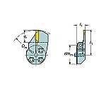 コロターンSL コロカット1・2用端面溝入れブレード 57032L123K18B088B