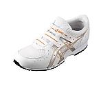 消防操法用靴 GEL119-R-Ⅲ 白×シルバー 25.0cm FOA004.019325.0