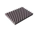 波状加工ウレタンスポンジシート ハード 20mm 1m×1m 黒