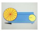 円周と円の面積説明器