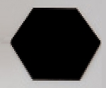 ニューアートグラス 六角形 13283