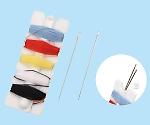 手縫い糸(針2本付) 5色×1.4m巻