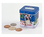 [取扱停止]クリスマス鍵付き貯金箱